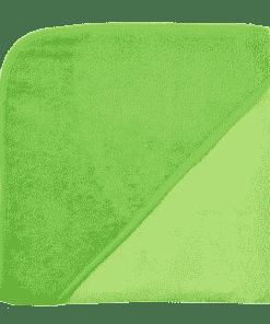Kapuzenbadetuch, 100x100cm, limone/kiwi