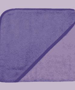 Kapuzenbadetuch, 100x100cm, flieder/violett