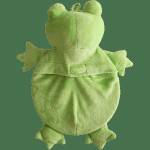 Wärmeflasche Frosch mit Raschelpfote, Rundflasche