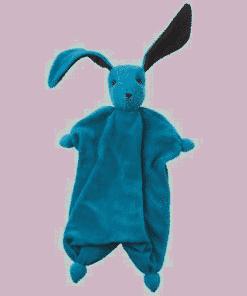 Peppa Schmusetuch Tino - Blau/Anthrazit | Stickkreation